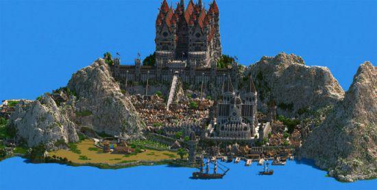 玩家花5年打造《我的世界》原创王国 中世纪风格规模震撼细节精湛