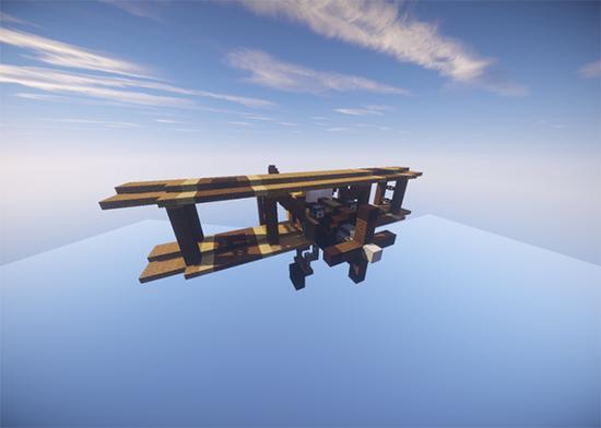 双翼飞机 玩家还原一战飞机