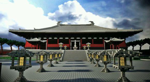 我的世界奉国寺建筑美图欣赏
