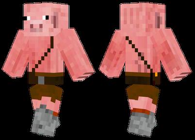 猪男 穿着短裤的猪人 我的世界皮肤下载