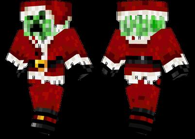 圣诞苦力怕 圣诞老人版苦力怕