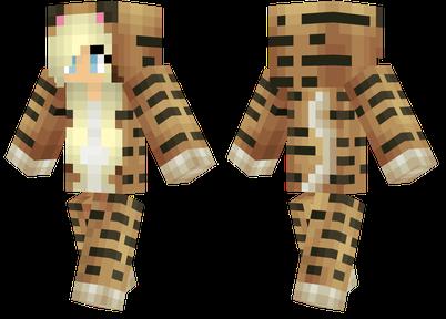 老虎连身衣 伪装成老虎的女孩 mc1.11.3皮肤