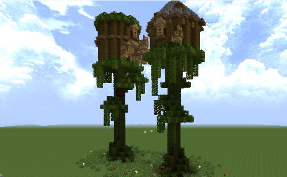 树屋 好看的树屋 我的世界树屋制作教程