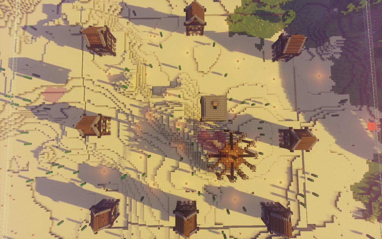我的世界PVP场地建造经验——沙漠世界