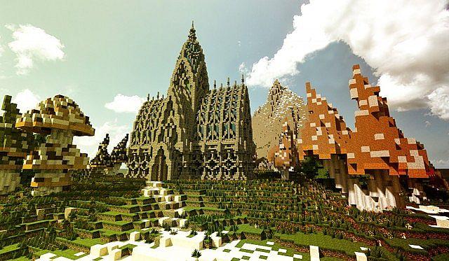 Mushroom Island Cathedral Thingy 蘑菇岛与大教堂