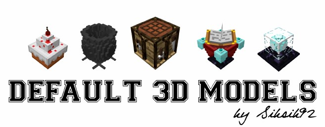 Default 3D Models 材质包