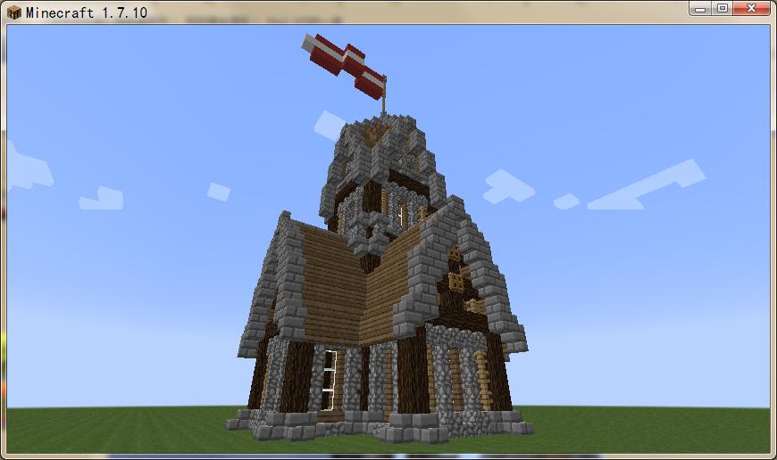 中世纪房屋 我的世界中世纪房屋建造教学