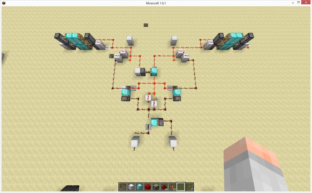 MC双向多路控制活塞门制作经验 红石教程