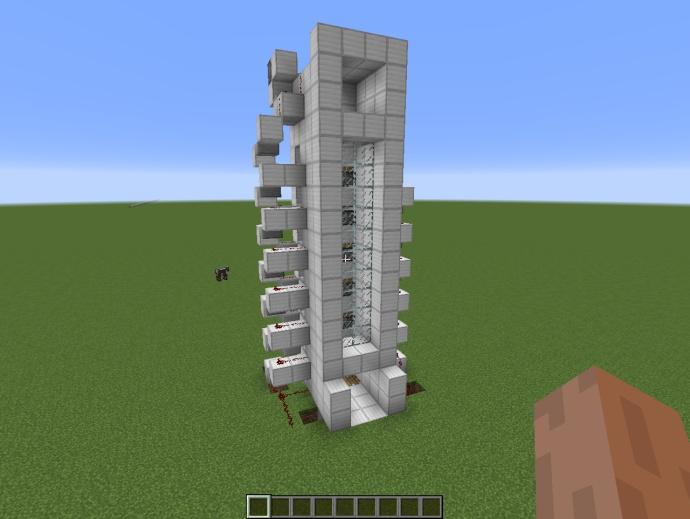 我的世界垂直单向红石电梯制作教程