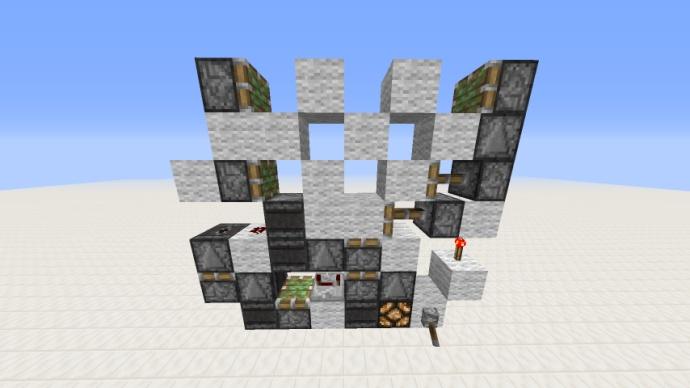 3X3形如X的活塞门教程