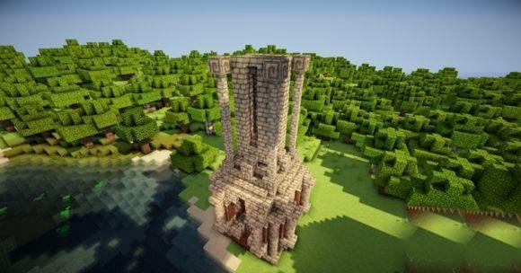 命令方块1.9柱子机 一秒不到速搭柱子 我的世界命令方块教程
