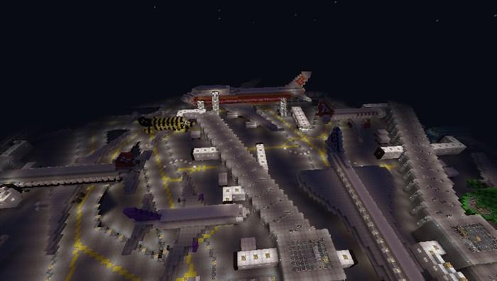 我的世界飞机场怎么做