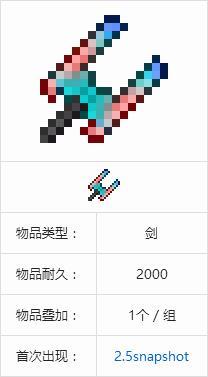 MC珊瑚剑怎么合成
