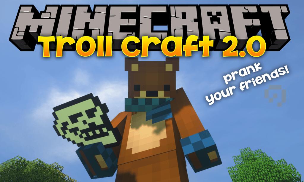 Troll Craft 2.0 mod for minecraft logo