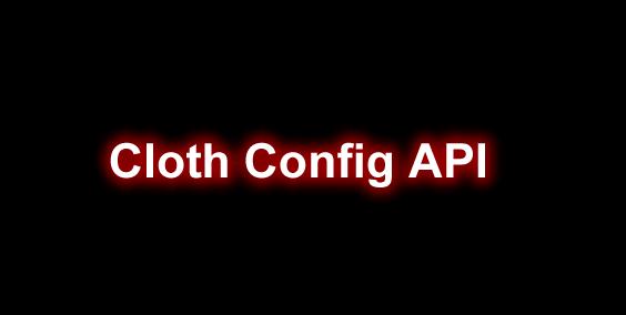 Cloth Config API
