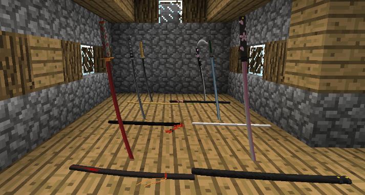 模组中添加了的各种刀剑