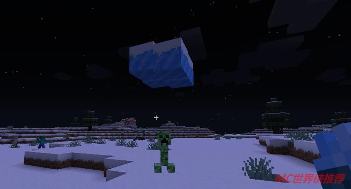 冰术师正在控制冰云砸向生物