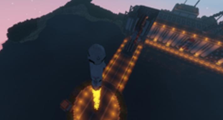 模组中火箭发射场景